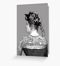Tattooed Victorian Woman Greeting Card