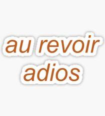 the front bottoms - au revoir Sticker