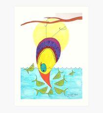 Fish standoff Art Print