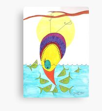 Fish standoff Canvas Print