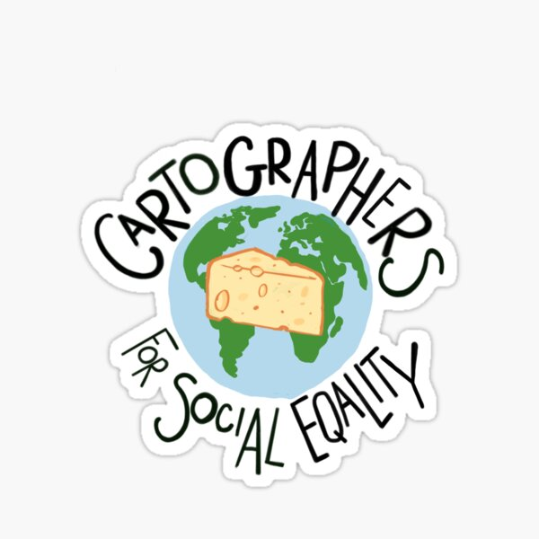 West Wing Cartographers For Social Equality Sticker
