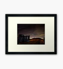 Midnight at the Cahokia Mounds World Heritage Site Framed Print