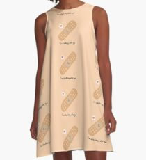 Valentine nerd geek sticking with you A-Line Dress