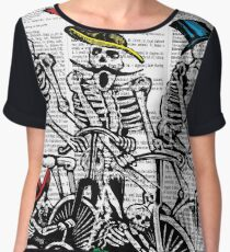 Calavera Cyclists Chiffon Top