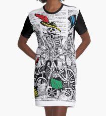 Calavera Cyclists Graphic T-Shirt Dress