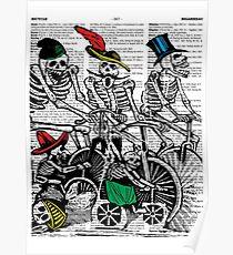 Calavera Cyclists Poster