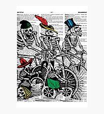 Calavera Cyclists Photographic Print