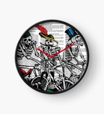 Calavera Cyclists Clock