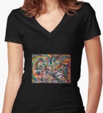 """""""Organ Freeman Freestyle"""" Women's Fitted V-Neck T-Shirt"""