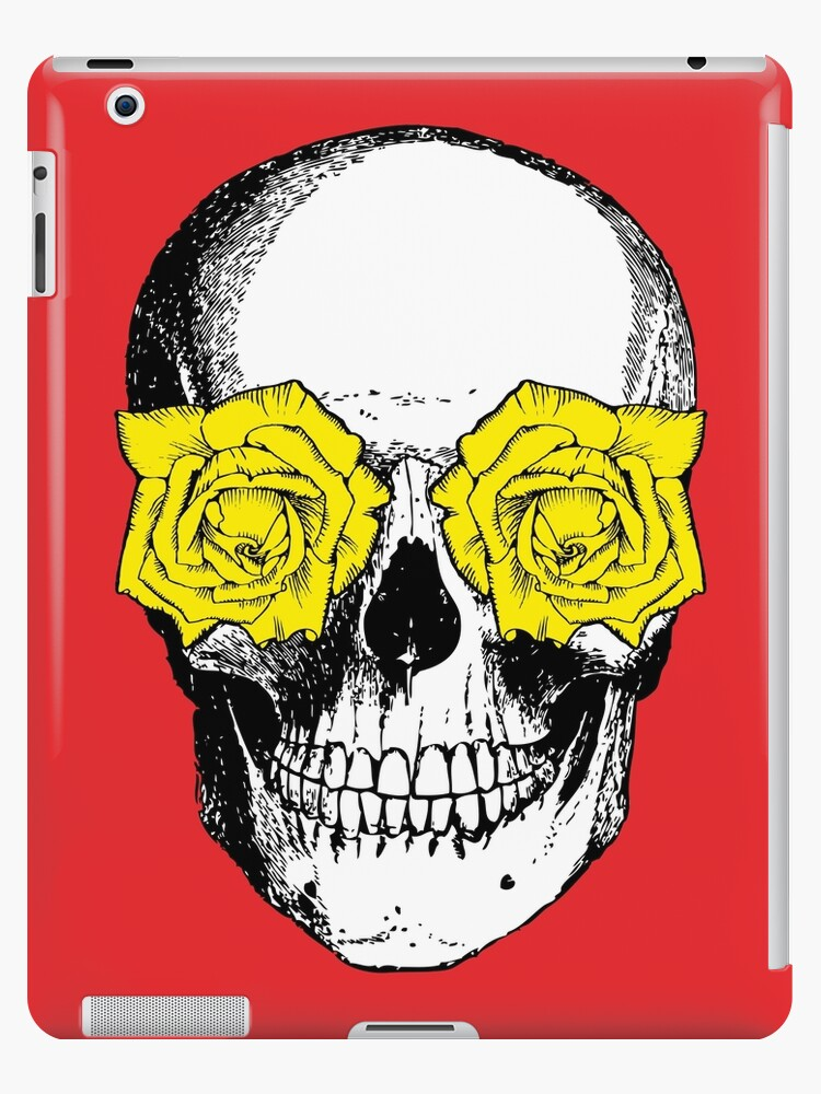 Skull and Roses | Red and Yellow by EclecticAtHeART