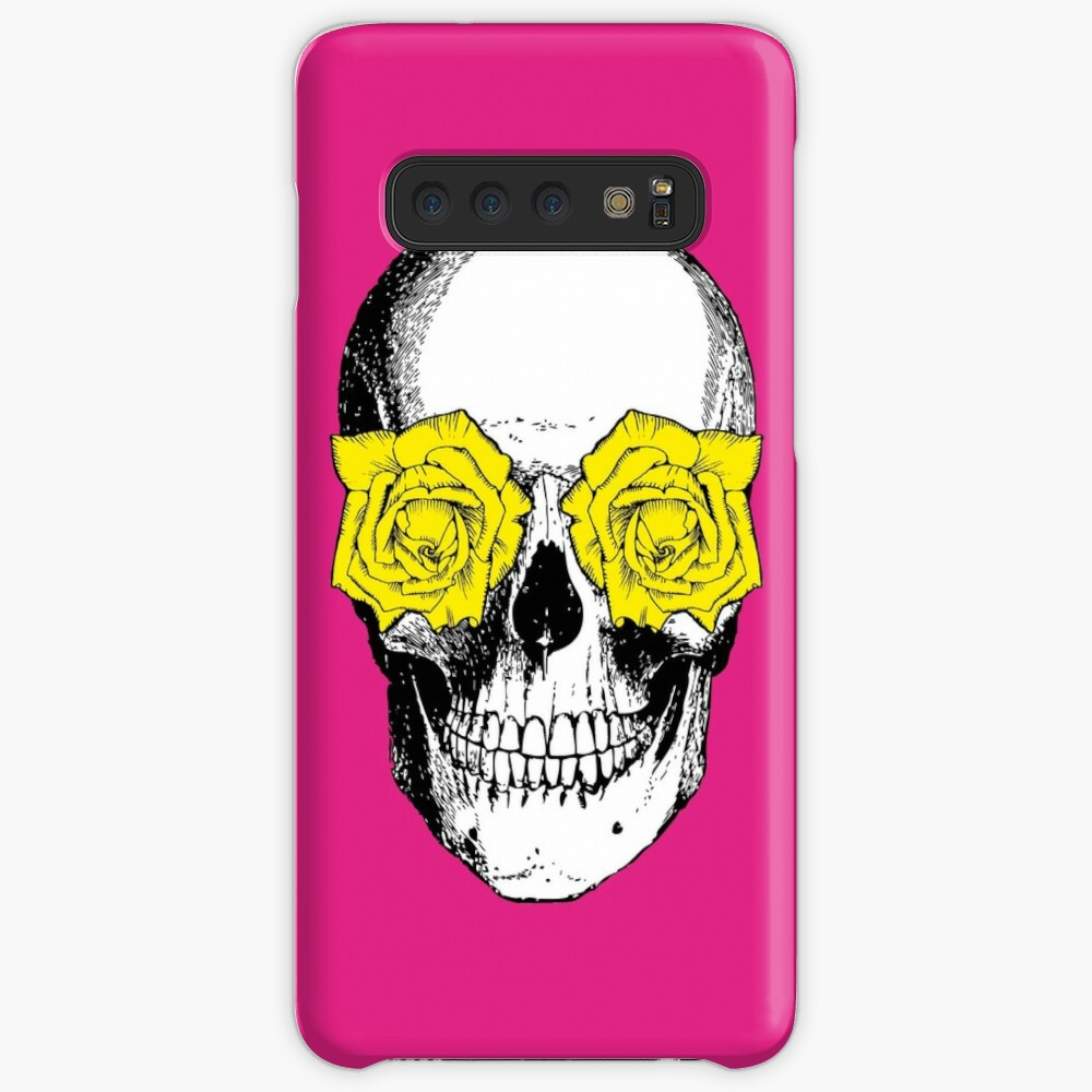 Skull and Roses   Skull and Flowers   Skulls and Skeletons   Vintage Skulls   Pink and Yellow    Samsung Galaxy Snap Case