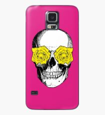 Skull and Roses | Pink and Yellow Case/Skin for Samsung Galaxy