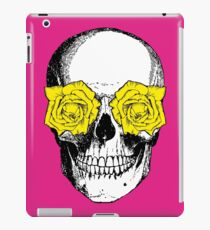 Skull and Roses | Pink and Yellow iPad Case/Skin