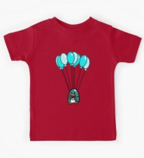 Flying Balloon Penguin Kids Clothes