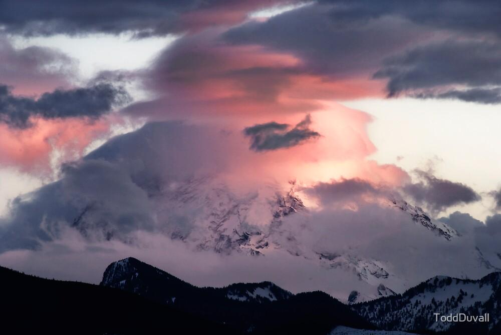 Mount Rainier Sunset by ToddDuvall