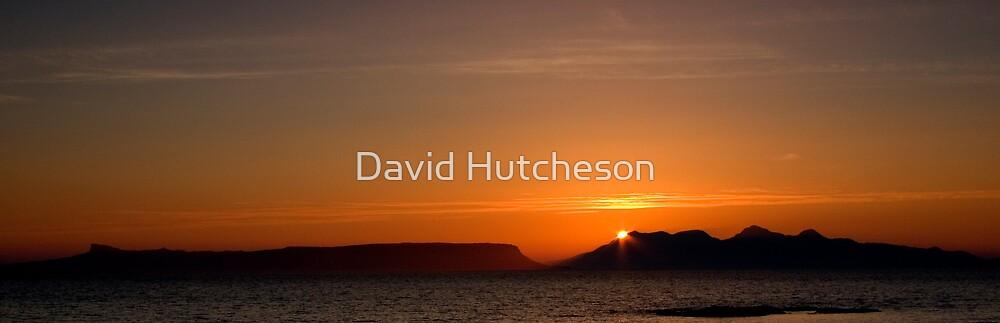 Eigg & Rum sunset by David Hutcheson