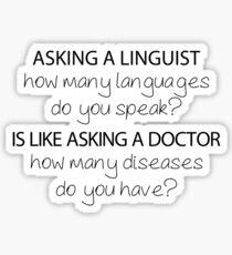How Many Languages Do You Speak? | Linguistics Sticker