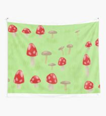Toadstool & Mushrooms Wall Tapestry