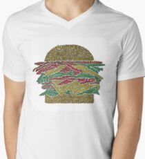 Double Royal with Cheese, Bacon and Onion Rings Men's V-Neck T-Shirt