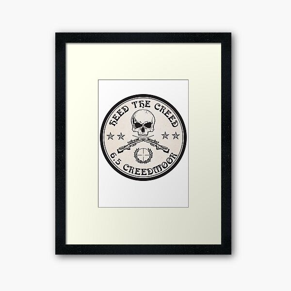 Heed The Creed On Black Framed Art Print