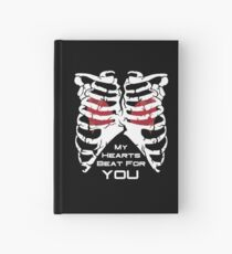 My Hearts Beat For You - White Hardcover Journal