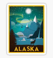 State of Alaska Vintage Travel Poster Sticker