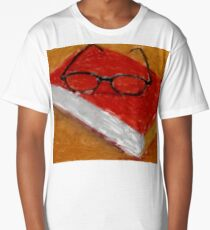 Book Under Glasses Long T-Shirt