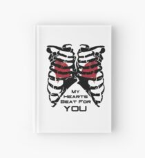 My Hearts Beat For You - Black Hardcover Journal