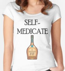 self medicate Women's Fitted Scoop T-Shirt