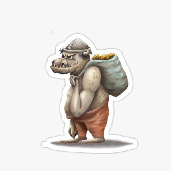 Goblin with gold Sticker