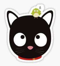 Bird and Cat best Friends Rh5ik Sticker
