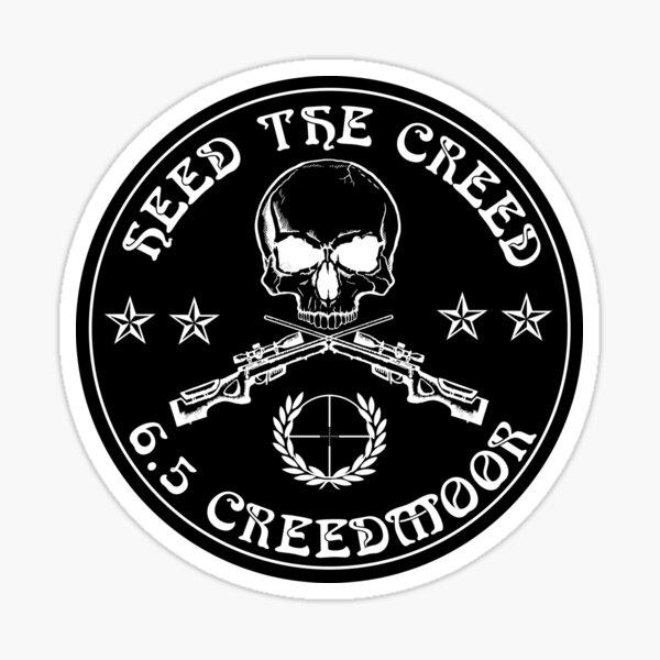 Heed The Creed Black Sticker