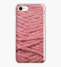 Rose Yarn Texture Close Up iPhone Case/Skin