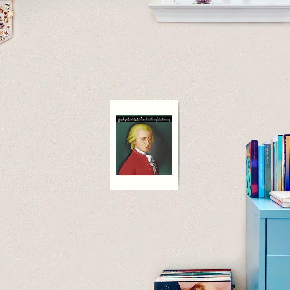 Nacht Mozart Art Print