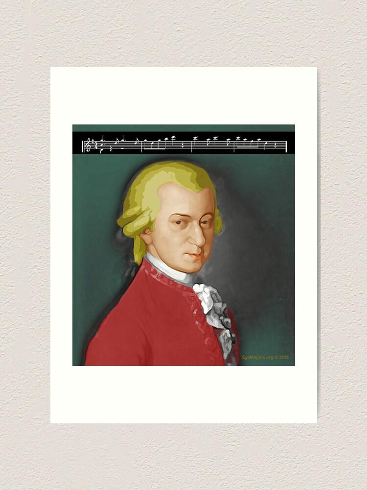 Alternate view of Nacht Mozart Art Print