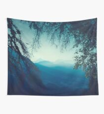 Blue Morning Wall Tapestry
