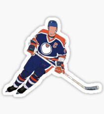 Wayne Gretzky Oilers Sticker