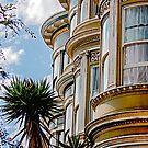 Trio of Victorians in Haight Ashbury Area - San Francisco California by Buckwhite