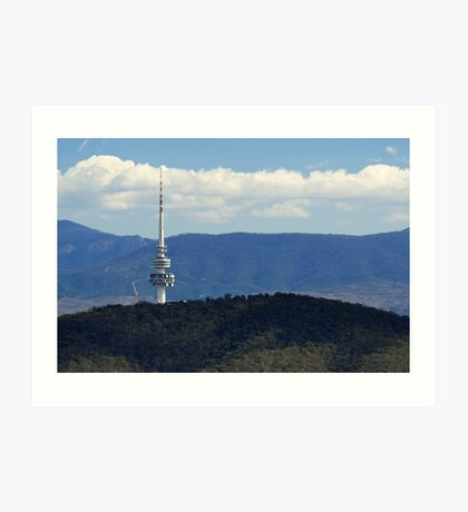 Black Mountain Tower Canberra Art Print