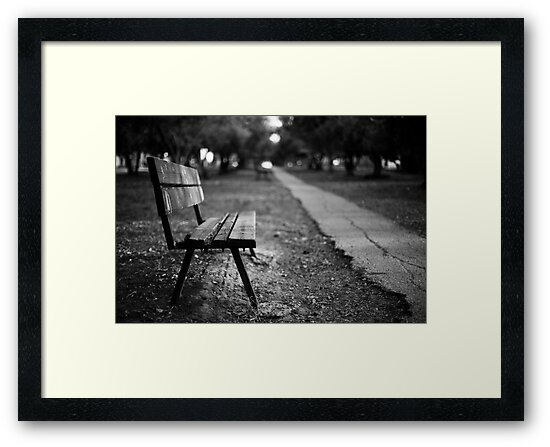 bench in park by Victor Bezrukov