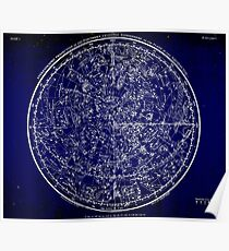 Constellations of the Northern Hemisphere | Bright Sky Poster