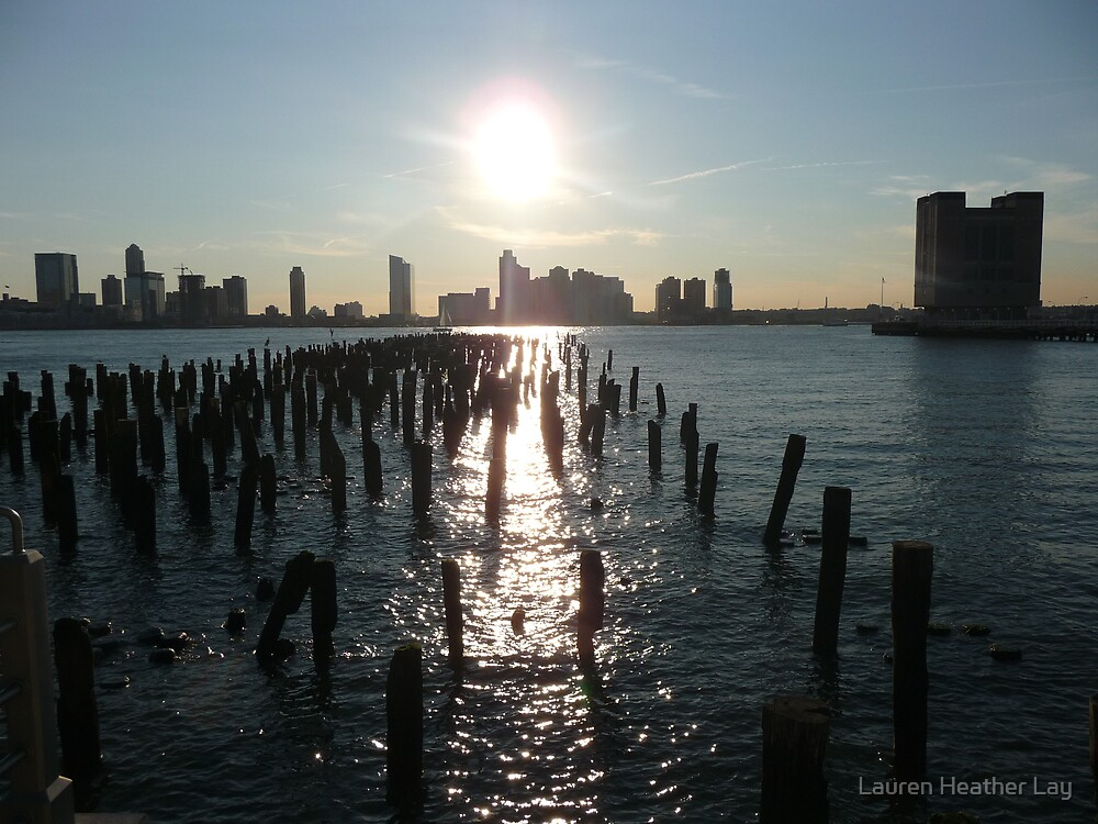 Summer Sunset on the Hudson by Lauren Heather Lay