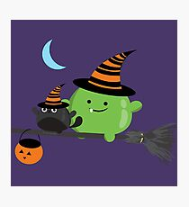 Halloween - Mochi Witch and Friends Photographic Print