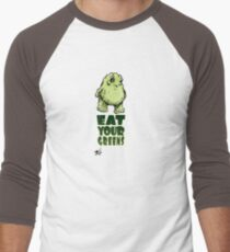 Eat Your Greens Men's Baseball ¾ T-Shirt
