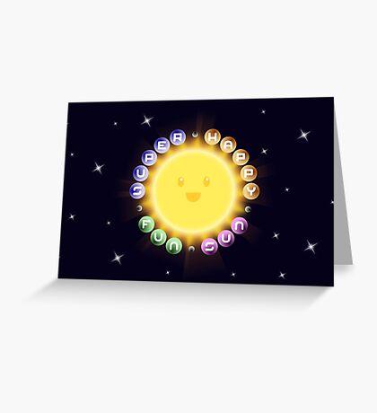 Super Happy Fun Sun Greeting Card