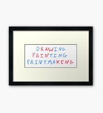 Raw Pain King Framed Print