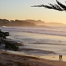 Carmel, CA Peach Sunset by Sandra Gray