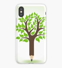 Ecology concept - Pencil make a tree  iPhone Case/Skin