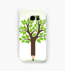 Ecology concept - Pencil make a tree  Samsung Galaxy Case/Skin