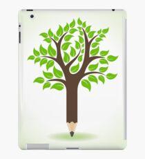 Ecology concept - Pencil make a tree  iPad Case/Skin